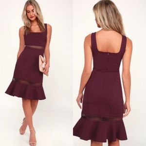 Lulus ruffle hem midi dress